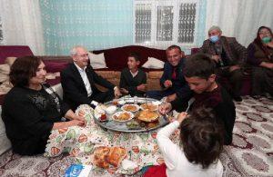 Kılıçdaroğlu, linç girişiminde kendisine evini açan aile ile iftar yaptı