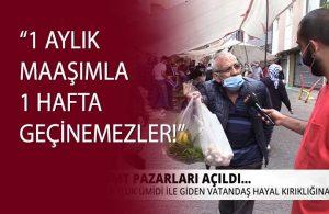 """Pazara giden yurttaş isyan etti! """"Erdoğan CHP'yi hedef almayı bıraksın gelsin bize baksın"""""""