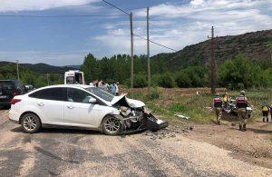 Tokat'ta iki otomobil çarpıştı: 1 ölü, 3 yaralı