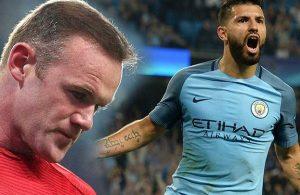 Aguero, Rooney'in rekorunu kırdı