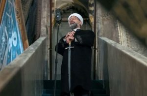 Ali Erbaş'tan yine kılıçlı hutbe