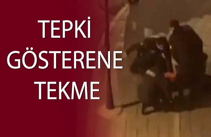 Sokak ortasında bekçi şiddeti