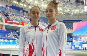 Trampolinde genç cimnastikçilerden Türkiye'ye ilk madalya