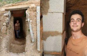 Yapımı 6 yıl sürdü! Ailesine kızan genç yeraltına ev inşa etti