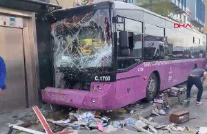 İETT otobüsü asansöre çarptı! 1 yaralı