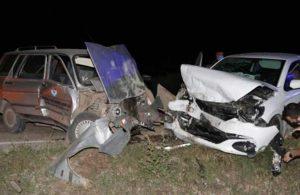 Amasya'da iki otomobil çarpıştı: 5 yaralı