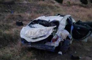 Afyonkarahisar'da uçuruma düşen otomobildeki 1 kişi öldü, 4 kişi yaralandı