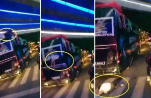 Kocaelisporlu futbolcu şampiyonluk kutlamasında otobüsten düştü!