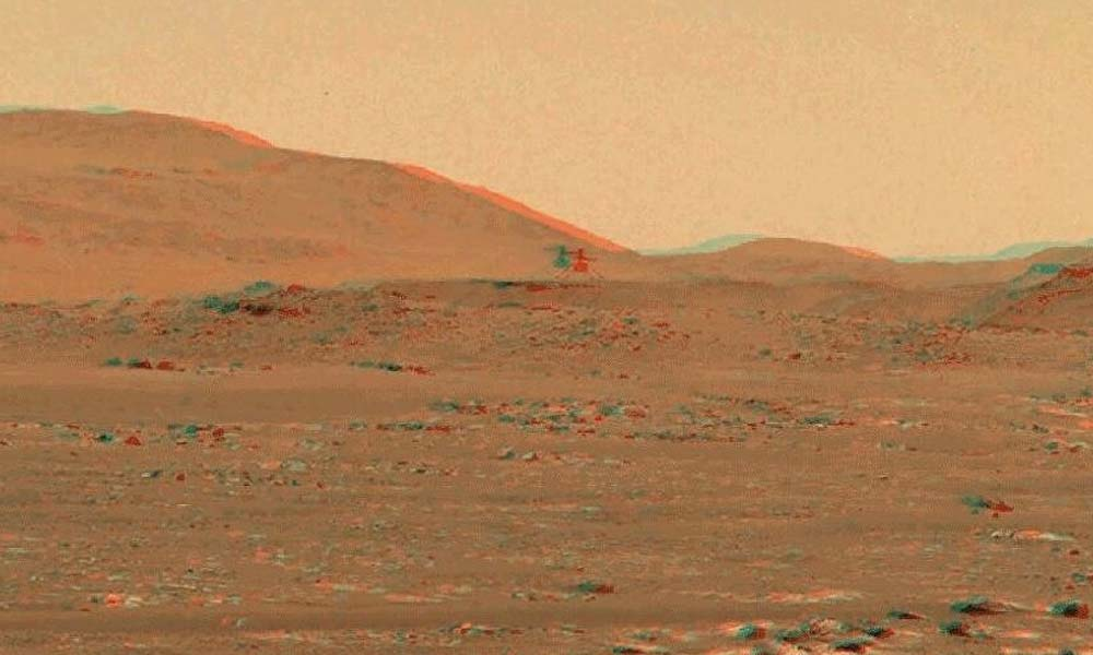 Mars helikopteri Ingenuity'nin üçüncü uçuşunun 3D videosu yayınlandı