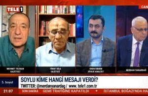 Süleyman Soylu Habertürk'teki programda kime mesaj verdi?