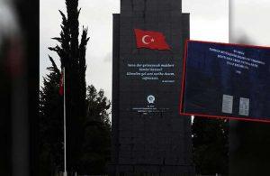 AKP'li belediye Şehitlik Anıtı'ndan Atatürk'ün adını çıkardı