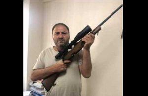 """Din öğretmeninden silahlı paylaşım: """"Emrindeyiz Aga. 600 metreden nokta atışı"""""""