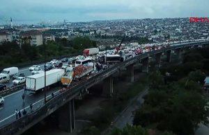 İzmit-TEM Otoyolu'nda zincirleme kaza: 20 araç birbirine girdi
