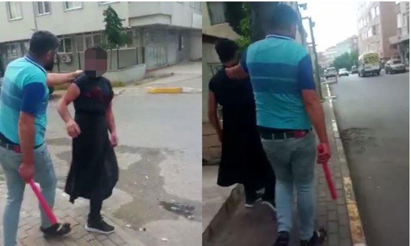 Eşini taciz ettiğini ileri sürdüğü sahsı kadın kıyafetleri giydirip dövdü