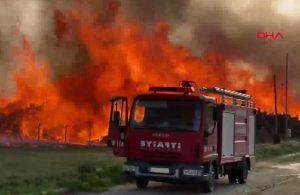 Biyoenerji tesisinde yangın! Alevler Onlarca metre yükseldi