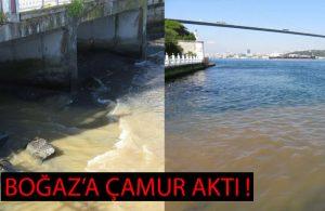 Boğaz'a çamurlu su aktı