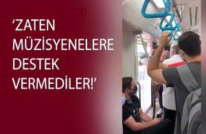 Marmaray'da müzik yapan öğrencilere 'Rahatsız ediyorsunuz' engeli!