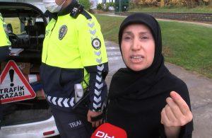 Maske cezası alan kadın makbuzu yırttı