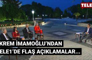 İBB Başkanı İmamoğlu'ndan TELE1'de önemli açıklamalar…