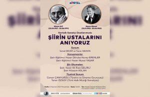 Türk Şiirinin unutulmaz iki ustası Kartal'da anılacak