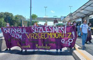 Kadınlar metrobüs yolunu kesti: İstanbul Sözleşmesi'nden vazgeçmiyoruz