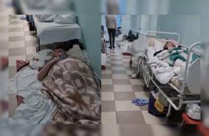 Türkiye'ye uçuşların tekrar başladığı Rusya'da hastalar koridorda yatıyor!