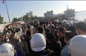 Kadıköy'deki eyleme polis müdahalesi: Çok sayıda gözaltı var