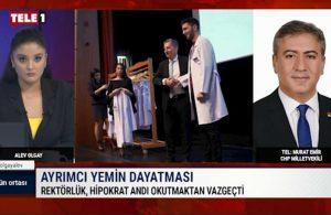 Murat Emir'den değiştirilen Hipokrat Yemini'ne tepki