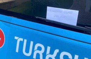 Milli Takım otobüsüne 'Fenerbahçe düşmanı Şenol Güneş' yazısı asıldı