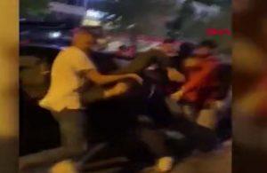 Kafedeki kavga sokağa taştı: Şişeler ve yumruklar havada uçuştu