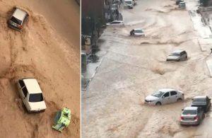 Ankara'da aniden bastıran sağanak sonrası sel