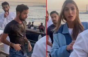 Şevval Şahin'in eski sevgilisi yeni sevgilisini insanların içinde denize attı