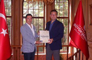 Bodrum Belediye Başkanı Ahmet Aras İstanbul Büyükşehir Belediye Başkanı Ekrem İmamoğlu ile görüştü