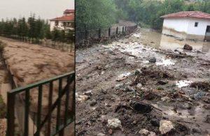 Çorum'da sağanak: Dere taştı, evler ve ahırlar zarar gördü
