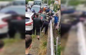 Evlerinden çıkmak istemeyen vatandaşlara polisten sert müdahale