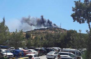 Bodrum Göktepe'den dumanlar yükseliyor
