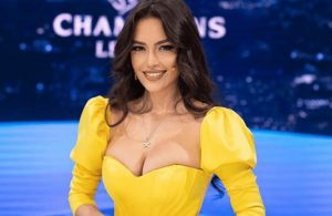 Şampiyonlar Ligi'nin güzel sunucusunun bikinili fotoğraflarına beğeni yağdı!