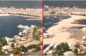 Deniz salyasının Marmara'yı nasıl kapladığı kameralara yansıdı