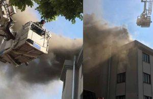 Öğrenci yurdunun çatısında yangın