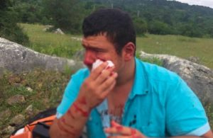 Lütfü Türkkan'ın çiftliğindeki yıkımı takip eden İHA muhabirine saldırı