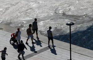 'Marmara'da yüzmek cilt için risk teşkil ediyor'