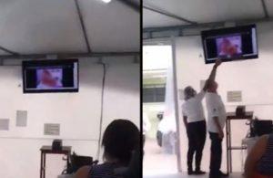Kovid merkezindeki bekleme odasında cinsel içerikli film skandalı