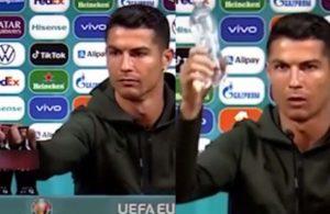 Cristiano Ronaldo tek hareketiyle Coca Cola'ya milyonlarca dolar kaybettirdi!