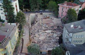 Sarıyer'de 9 katlı bina çöktü