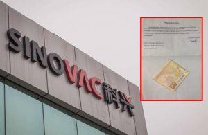 Sinovac'a mektup yazdı, 50 TL gönderdi