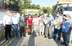 Tarsus Belediyesi'nin tarlalarında hasat zamanı
