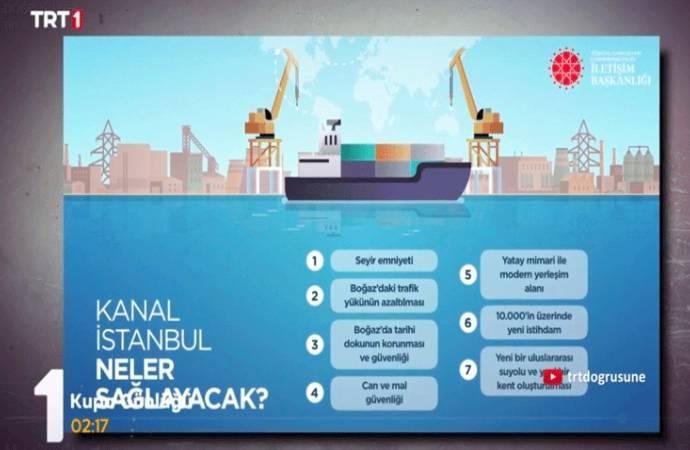 TRT'den Galler maçı öncesi Kanal İstanbul propagandası