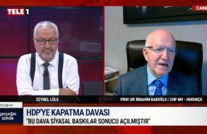 HDP iddianamesi kabul edildi: Prof. Dr. İbrahim Kaboğlu'ndan ilk yorum geldi