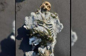 Kıyıya iskelet vurdu