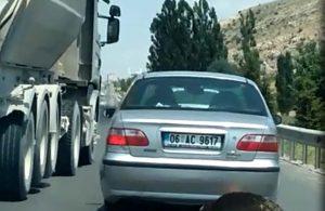 Ölü ineği araçla sürükleyen sürücüye para cezası
